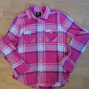 American Eagle Plaid Flannel Shirt XS